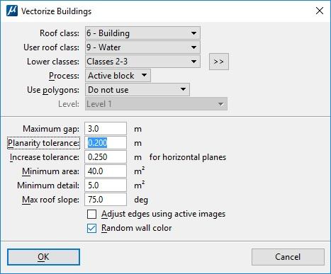 TerraScan Vectorize Buildings