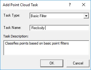 Add Basic Filter Point Cloud Task