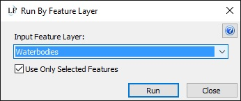 Select the Feature Layer and check the option to use only selected features