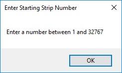 Strip number error