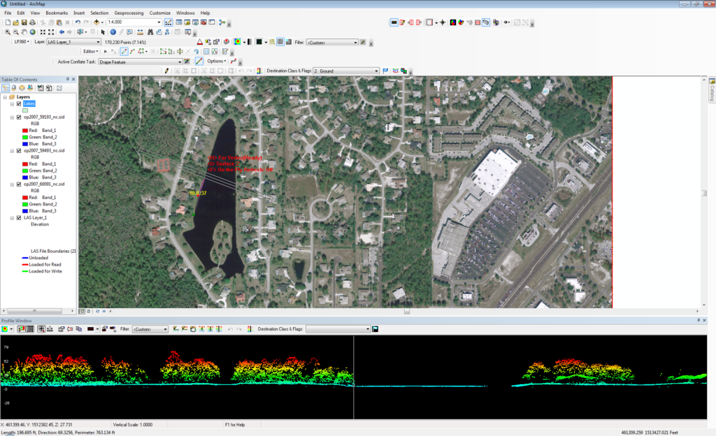 Conflation using LIDAR